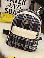 Women Sports & Leisure Bag PU All Seasons Casual Outdoor Zipper White Black Ruby