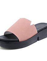 Women's Sandals Summer Slingback Creepers Comfort Light Soles Leatherette Outdoor Dress Casual Creepers Hollow-outBlushing Pink Green