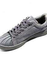 Черный Серый Коричневый-Для мужчин-Повседневный-ПолотноУдобная обувь-Кеды