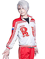 Inspired by Yuri on Ice Victor Nikiforov Cosplay Cosplay Anime Cosplay Costumes Cosplay Suits Print Coat Pants For