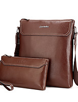 Men PU Formal Casual Event/Party Office & Career Bag Sets Khaki Brown Black