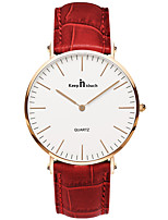 Women's Fashion Watch Quartz Leather Band White Red Brown White Gold