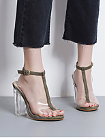 Talons femme t-strap leatherette casual brown