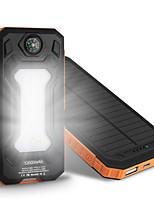 le nouveau chargeur 6000mAh ssolar camping lampe boussole d'alimentation universelle de puissance mobile ssolar