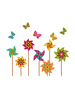 Wall Stickers Wall Decals Style Colorful Windmill PVC Wall Stickers