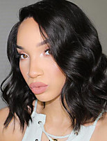 Black Color Synthetic Lace Front Wigs Natural Wave Heat Resistant Fiber Hair Wig for Black Woman