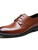 -Для мужчин-Свадьба Для офиса Для вечеринки / ужина-Кожа-На плоской подошве-Удобная обувь Формальная обувь-Свадебная обувь