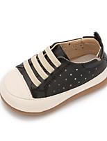 Garçon-Décontracté-Noir Argent Rouge-Talon Plat-Premières Chaussures-Baskets-Cuir
