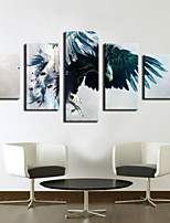 Art Print Animal Modern Five Panels Horizontal Print Wall Decor For Home Decoration