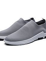 Men's Sneakers Spring Fall Comfort Tulle Casual Braided Strap Gray Black