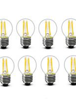 ® Shenmeile 3.5 E14 E27 LED Filament Bulbs G45 4 COB 400 lm Warm White Decorative AC220 AC230 AC240 V 8 pcs