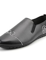 Белый Черный Оранжевый-Для мужчин-Повседневный-ПолиуретанУдобная обувь Мокасины-Мокасины и Свитер