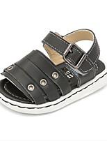Kids' Baby Sandals First Walkers Cowhide Summer Casual First Walkers Flat Heel White Black Beige Flat