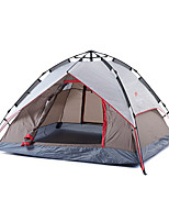 3-4 persons Tent Double Fold Tent One Room Camping Tent Oxford Foldable Portable-Camping Outdoor-Gray