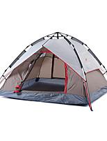 3-4 personnes Tente Double Tente pliable Une pièce Tente de camping Oxford Pliable Portable-Camping Extérieur-Gris