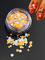 1Bottle Fashion Nail Art Beauty Colorful Round Thin Slice Glitter Round Paillette Nail Art DIY Decoration P35