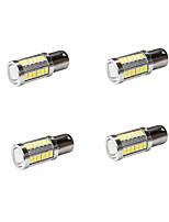 4pcs 1156 5630 33SMD Led Car Turn Signal Brake Lights DRL Driving Lamp White Color Auto Bulbs DC12-24V