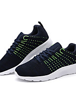 Men's Sneakers Comfort Fabric Athletic Blue Gray Black