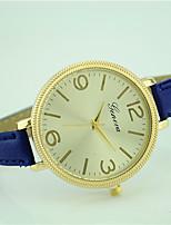 Женские Модные часы Наручные часы Кварцевый Кожа Группа Повседневная Черный Белый Синий Красный Зеленый Розовый Темно-синий Роуз