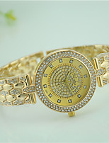 Women's Fashion Watch Quartz Rhinestone Alloy Band Casual White Gold Brand