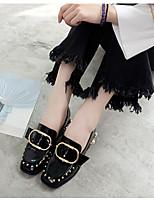 Черный-Для женщин-Повседневный-Резина-На плоской подошве-С Т-образной перепонкой-Ботинки