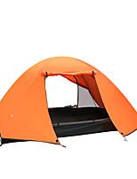 2 человека Световой тент Двойная Складной тент Однокомнатная Палатка 2000-3000 мм Алюминий Оксфорд Полиэфирная тафтаВлагонепроницаемый