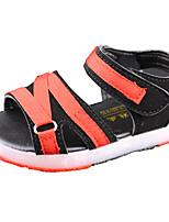 Boys' Sandals Spring Summer Comfort PU Casual Flat Heel LED Hook & Loop Green Red Orange Black