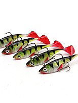5 pcs leurres de pêche Shad Multicolore g/Once,85 mm/3-5/16