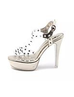 Золотой Серебряный-Для женщин-Повседневный-ПолиуретанУдобная обувь-Обувь на каблуках