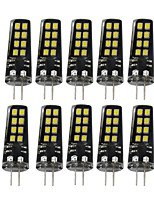 3W G4 LED à Double Broches 16 SMD 2835 200-300 lm Blanc Chaud Blanc Naturel Blanc Décorative V 10 pièces
