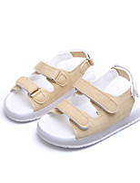 Boys' Sandals Spring Summer Comfort PU Casual Flat Heel LED Yellow Black White