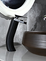 Traditional Centerset Waterfall with  Ceramic Valve Single Handle One Hole for  Oil-rubbed Bronze , Bathroom Sink Faucet