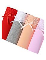 Sexy Nahtlos Slip-Baumwolle Polyester Elasthan
