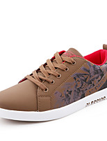 Men's Sneakers Comfort Light Soles Leatherette Spring Fall Athletic Casual Outdoor Comfort Light Soles Lace-up Dark Brown Blue Burgundy
