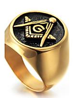 Массивные кольца Кольцо Мода Панк По заказу покупателя Хип-хоп Rock Euramerican Титановая сталь Геометрической формы Золотой Бижутерия Для