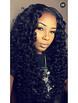 Unprocessed Human Virgin Hair Natural Black Color Kinky Curly Lace Wig with Baby Hair