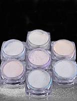 7Pcs7 Color/Set Selling Nail Laser Magic Magic Mirror Powder Fireworks Powder Laser Chameleon DIY