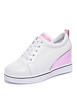 Women's Sneakers Spring Summer Fall Winter Comfort PU Outdoor Office & Career Casual Walking Platform Split Joint Blushing Pink Black