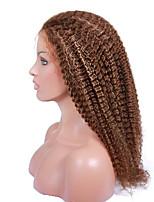 곱슬 곱슬 인간의 머리카락 브라질 처녀 가발을 여성 전체 레이스 가발을 8-24inches