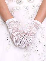 Até o Pulso Com Dedos Luva Renda Elastano Luvas de Noiva Luvas de Festa Primavera Verão Outono