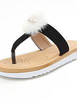 Damen-Slippers & Flip-Flops-Kleid Lässig-Vlies-Niedriger Absatz-Mary Jane-