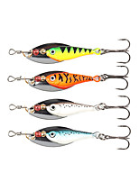 4 pcs Spinner Baits Fishing Lures Buzzbait & Spinnerbait Green Orange Silver Blue g/Ounce mm/2-3/8