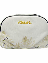 Ms. Kate&Co. stylish leather laser hollowed flower dinner carry bag makeup bag TH-02221 white