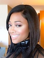 Short Straight Human Hair Wigs With Baby Hair Unprocessed Lace Front Wigs For Black Women