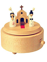 Music Box Circular Leisure Hobby Wood Not Specified