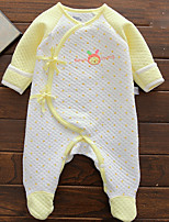 Baby Casual/Daily Patchwork One-Pieces,Cotton Spring 3/4 Length Sleeve