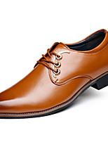 -Для мужчин-Для прогулок-Полиуретан-На плоской подошве-Удобная обувь-Туфли на шнуровке