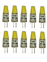 1.5W G4 LED Bi-pin Lights T 1 COB 250 lm Warm White Cool White Decorative DC 12 V 10 pcs