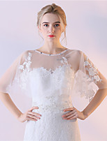 Women's Wrap Capelets Tulle Wedding Party/Evening Lace
