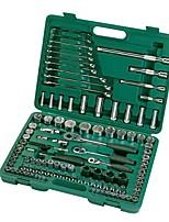Sata® 09014 120pc 6.3x10x12.5mm Profi Schraubenschlüssel Werkzeugsatz mit Werkzeugkasten